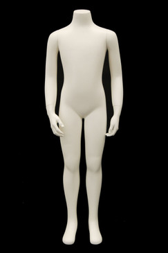 Fiberglass Headless Child Mannequin Matte White MM-CW8Y