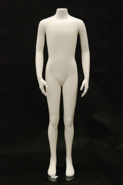 Fiberglass Headless Child Mannequin Matte White MM-CW12Y