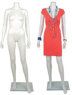 Plastic Headless Female Mannequin White PS-PHF2