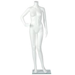 Plastic Headless Female Mannequin White PS-PHF1