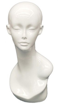 Gloss White Female Display Head MM-TW