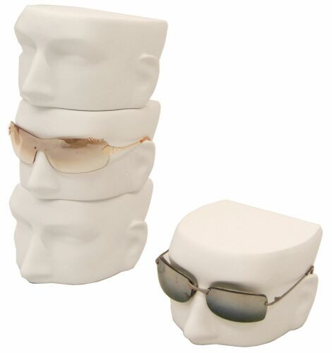 Matte White Male Sunglass Display Head - MM-MfaceW