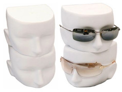 Matte White Female Sunglasses Display Heads - MM-FfaceW
