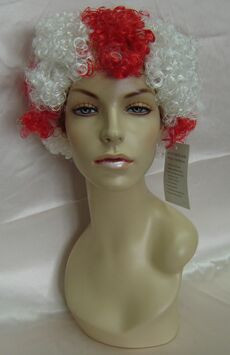 Red and White Female Costume Wig - MM-SWPC13
