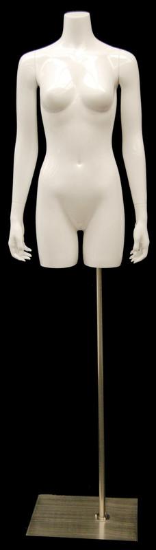 Gloss White Female Headless Torso with Base MM-TFWS