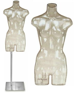Clear Female Headless Torso with Base MM-FJW324
