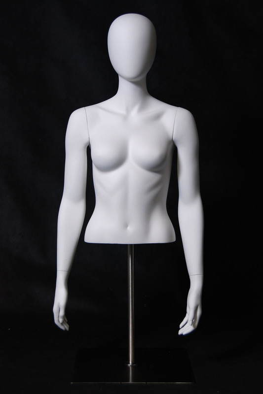 Matte White Abstract Female Torso with Counter Top Base MM-EGTFSA