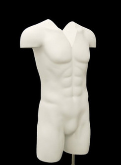 Matte White Male Headless Ghost Torso with Base MM-TMW-IV