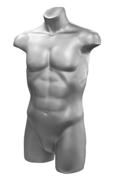 Silver Male Athletic Headless Torso MM-TM80S