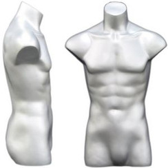 Silver Male Headless Torso MM-149S