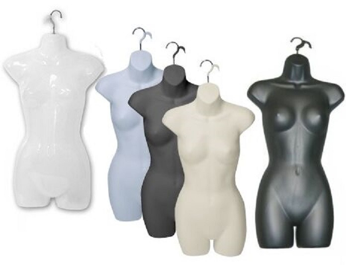6 Units Hanging Display Female Body Form with Hook PS-FP119