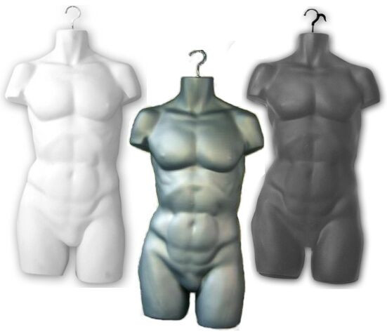 6 Units Hanging Display Male Body Form with Hook PS-M36