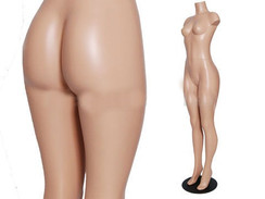 Fleshtone Plastic Latin Style Female Display Full Body Form PS-FF202-2