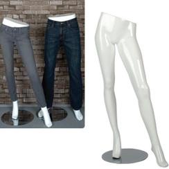 Gloss White Female Display Leg Form MM-PFW1