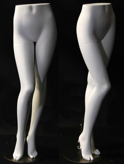 Matte White Female Display Leg Form MM-FL9