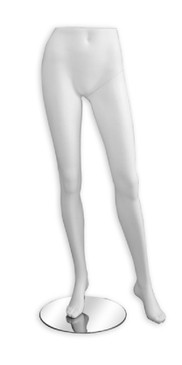 Matte White Female Display Leg Form MM-LEG2FWHT