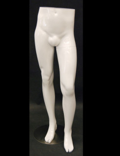 Gloss White Male Mannequin Leg Form MM-ML9S