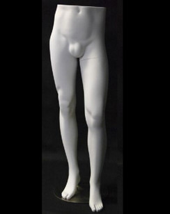 Matte White Male Mannequin Leg Form MM-ML9W