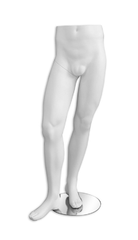 Matte White Male Mannequin Leg Form MM-LEG5MWHT