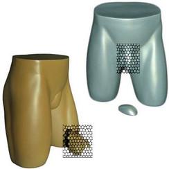 Fiberglass Male Buttocks Form MM-231