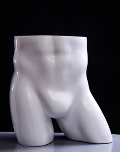 Gloss White Fiberglass Male Buttocks Form MM-TB2