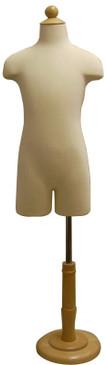 Child Hard Foam Dress Forms w/Base 7 Y.O. MM-JF-C11C7T