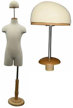 Optional Cap Neckblock for Children Dress Form MM-CAP-C01M