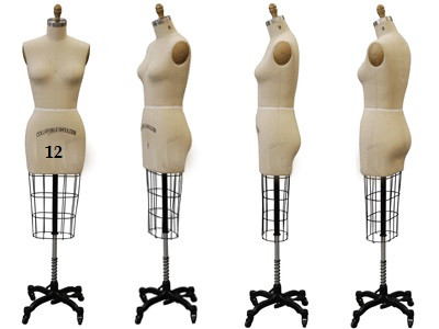 Professional Female Half Body Dress Form Sizes: 12 and 14 MM-601