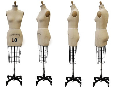Professional Plus Size Female Half Body Dress Form Sizes: 18 and ...
