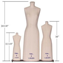 Professional Mini Scale Ladies Dress Form 3pcs/Set MM-615