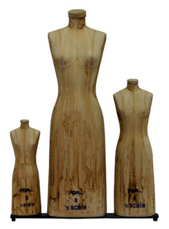 Professional Mini Scale Ladies Dress Form 3pcs/Set MM-615AT