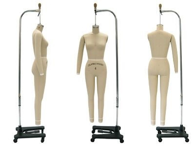 Professional Plus Size Female Full Body Dress Form Size 14 Mm