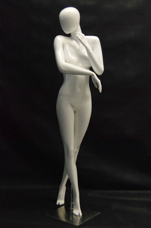Khloe, Gloss White Abstract Female Mannequin MM-NC5-1