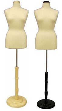 Cream Female Body Form size 14/16 with Base MM-JF14/16