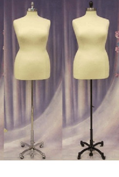 Cream Female Body Form Plus Size 18/20 with Caster Base MM-JF18/20C