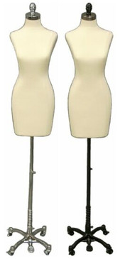Cream Female Body Form with Caster Base MM-JF01C