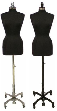 Black Female Body Form Plus Size 14/16 with Caster Base MM-JF14/16BKC