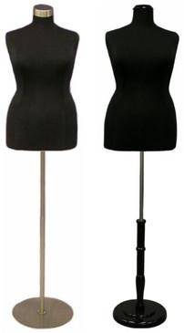 Black Female Body Form Plus Size 18/20 with Base MM-JF18/20BK