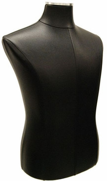 Black PU Leather Male Body Form with Base MM-JF33M01PU-BK