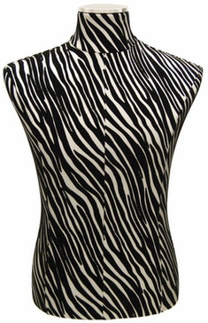 Male Body Zebra Print Form with Base MM-JF33M01PU-ZB