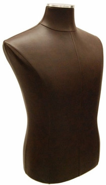 Brown PU Leather Male Body Form with Base MM-JF33M01PU-BN