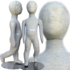 Flexible Kid Mannequin with Head 2' 7'' (12m-18m) MM-94