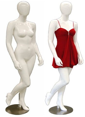 Patricia, Gloss White Abstract Egg Head Female Mannequin MM-GS6W1