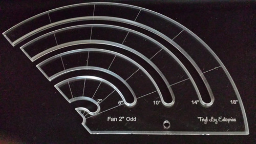 "3/8"" Template, Fan 2"" Odd Slotted Ruler, Medium"