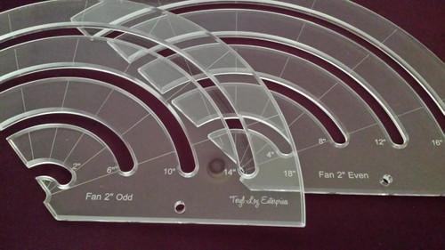 2 inch Fan Template Set