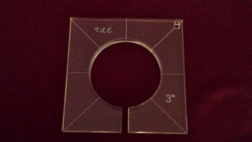Inside Circle Template, 3 inch diameter