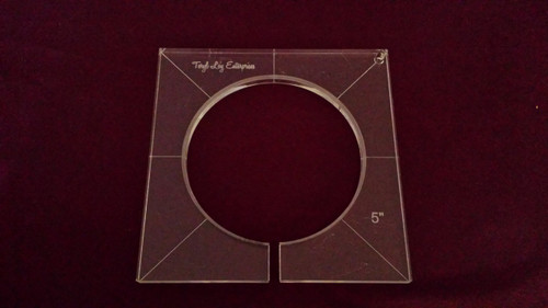 Inside Circle Template, 5 inch diameter