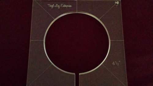 Inside Circle Template, 4-1/2 inch diameter