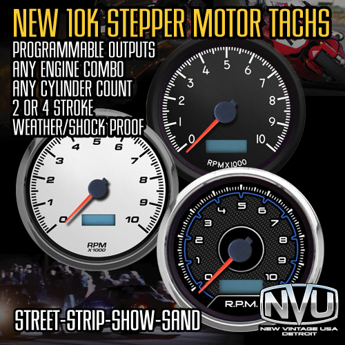 10,000 rpm tachometer stepper motor led