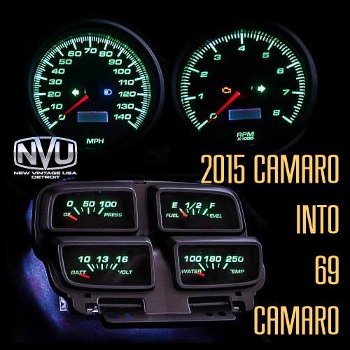 2010camaro retrofit console speedo